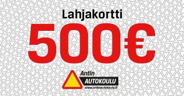 500 euron lahjakortti Antin Autokouluun